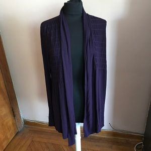 Anthropologie Bailey 44 eggplant open cardigan